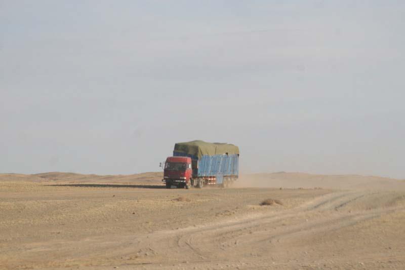 camion sur les pistes