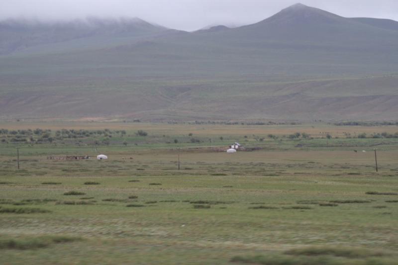 paysage mongole avec temps gris
