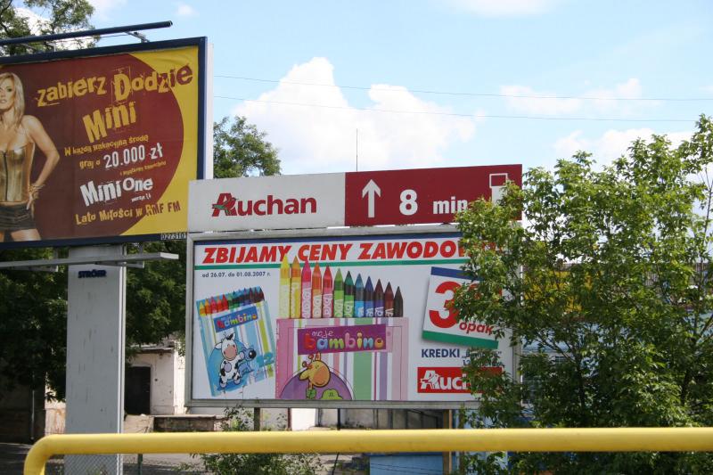 panneau publicitaire Auchan