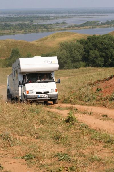 Camping car en pleine grimpette