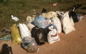 poubelles laos
