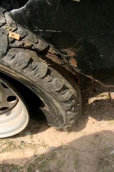 pneu eclate