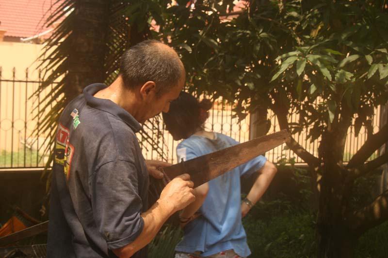 préparatif cueillette noix de coco bufardtourdumonde laos